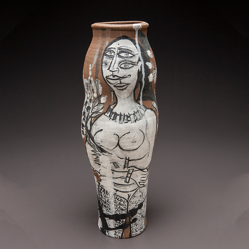 Cappy Thompson & Dick Weiss Double Portrait Vessel