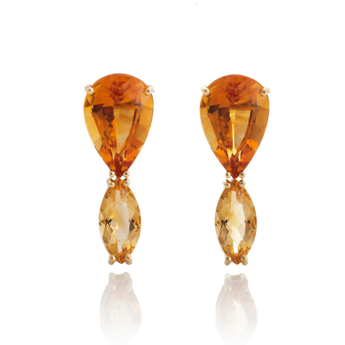 Gump's Two Color Citrine Drop Earrings