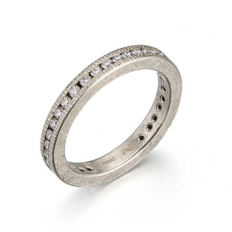 Todd Reed Diamond Channel Set Palladium Eternity Band Ring