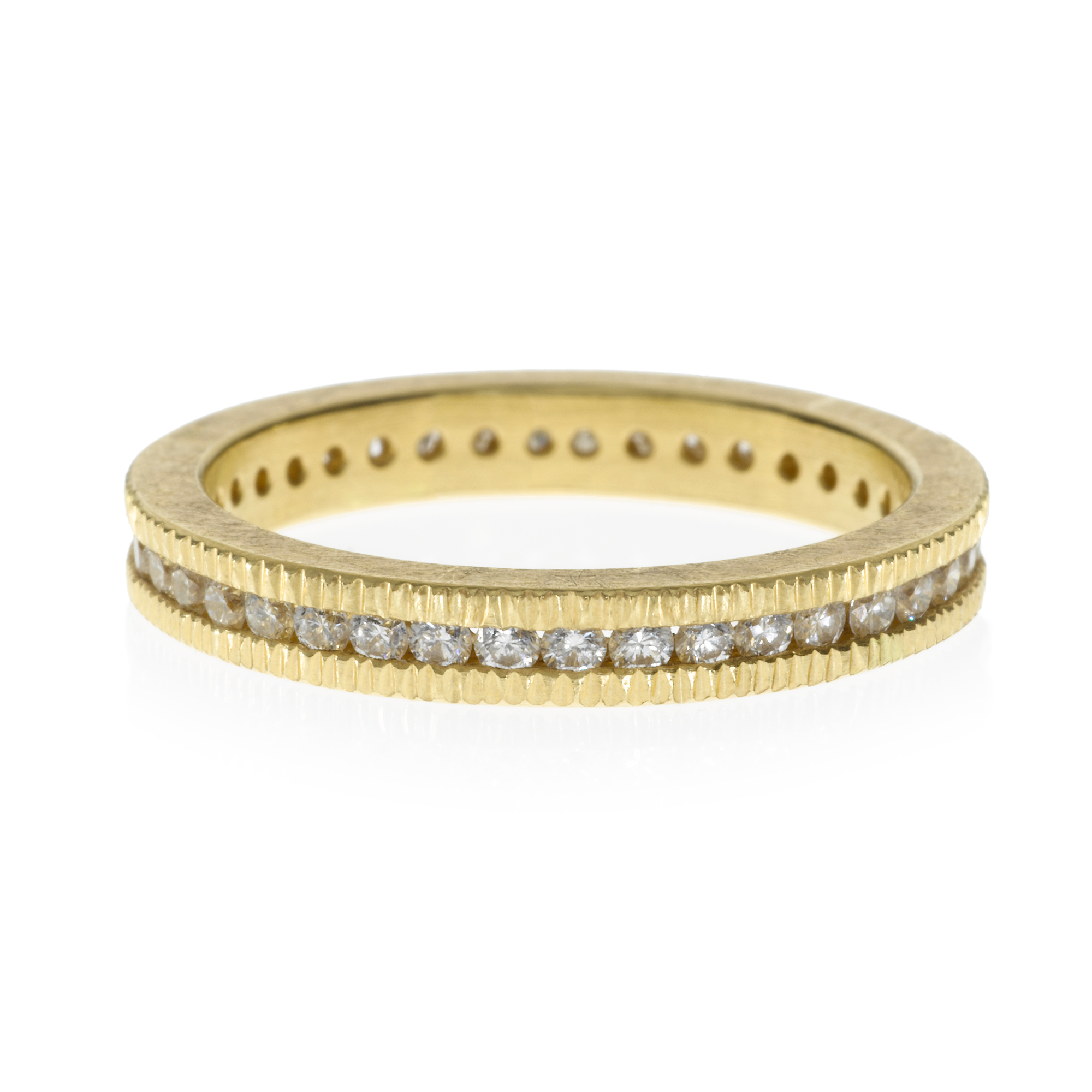 Todd Reed Diamond Channel Set Gold Eternity Band Ring