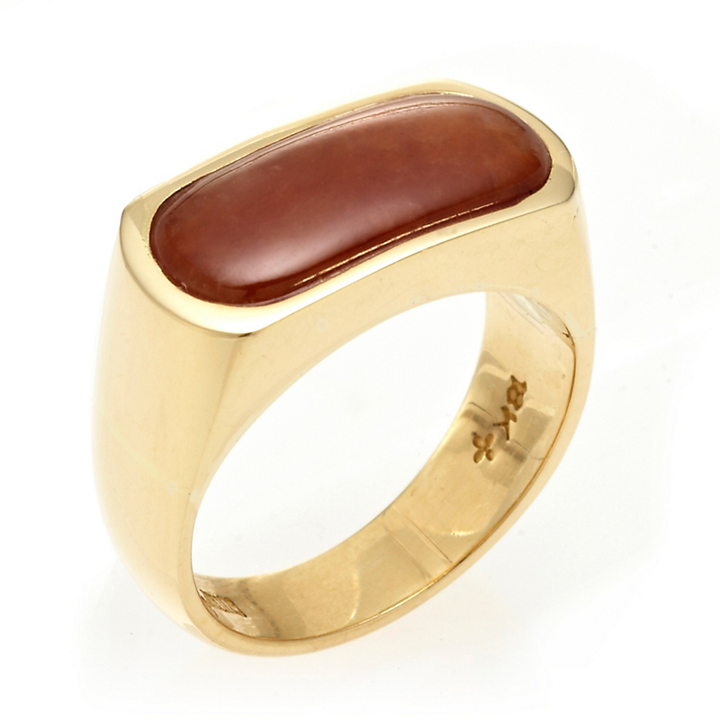 Gump's Red Jadeite Gold Saddle Ring