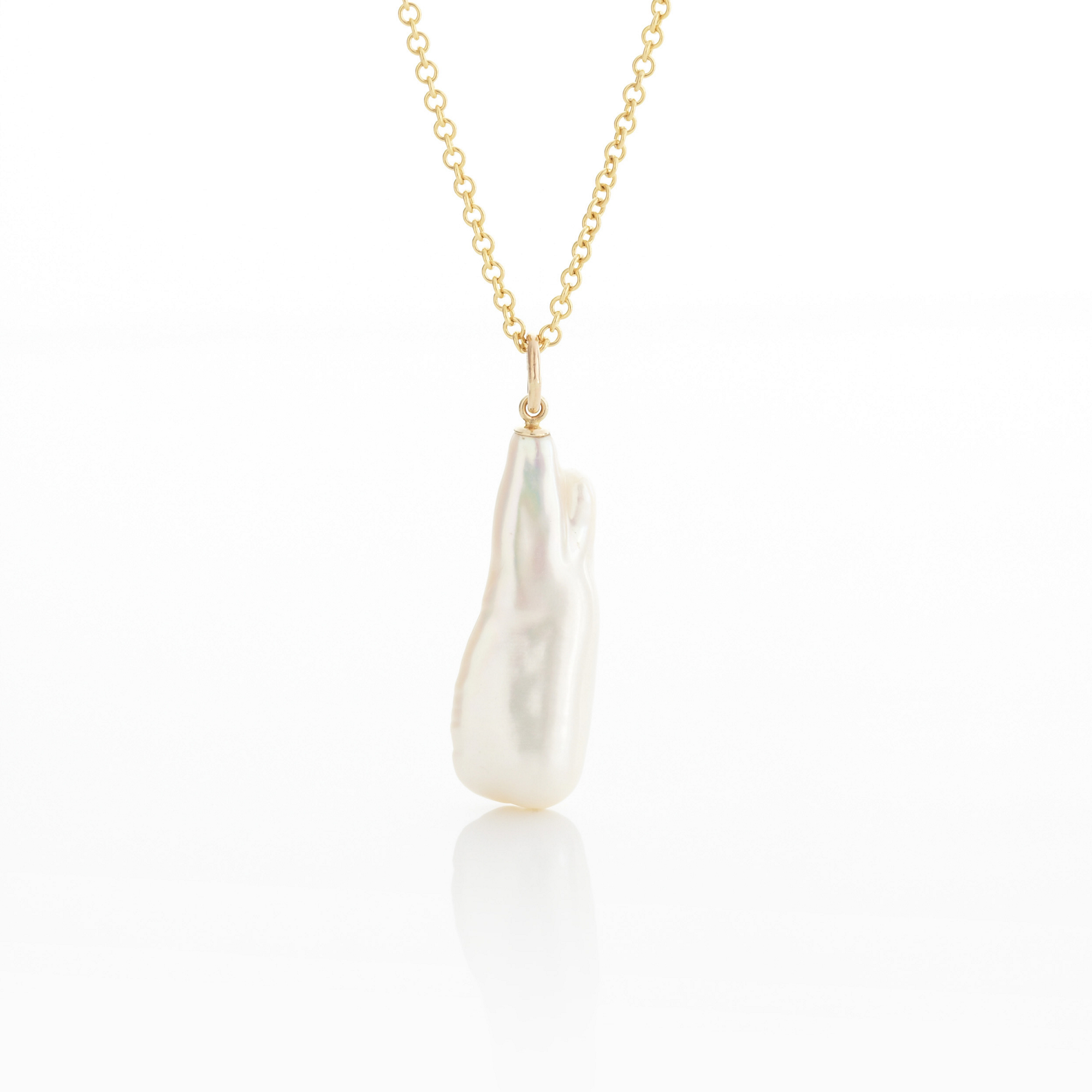 Gump's Elongated Baroque Pearl Pendant
