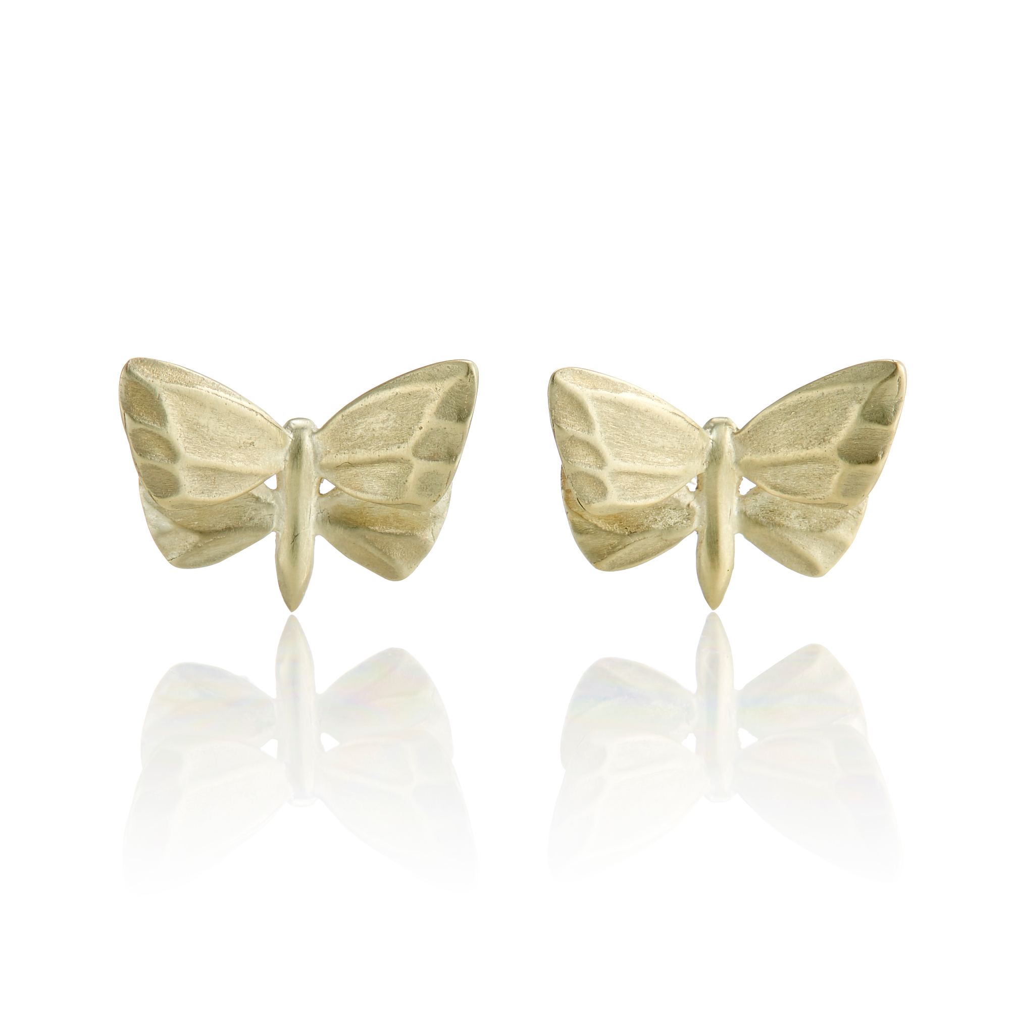 Gabriella Kiss Gold Small Butterfly Stud Earrings