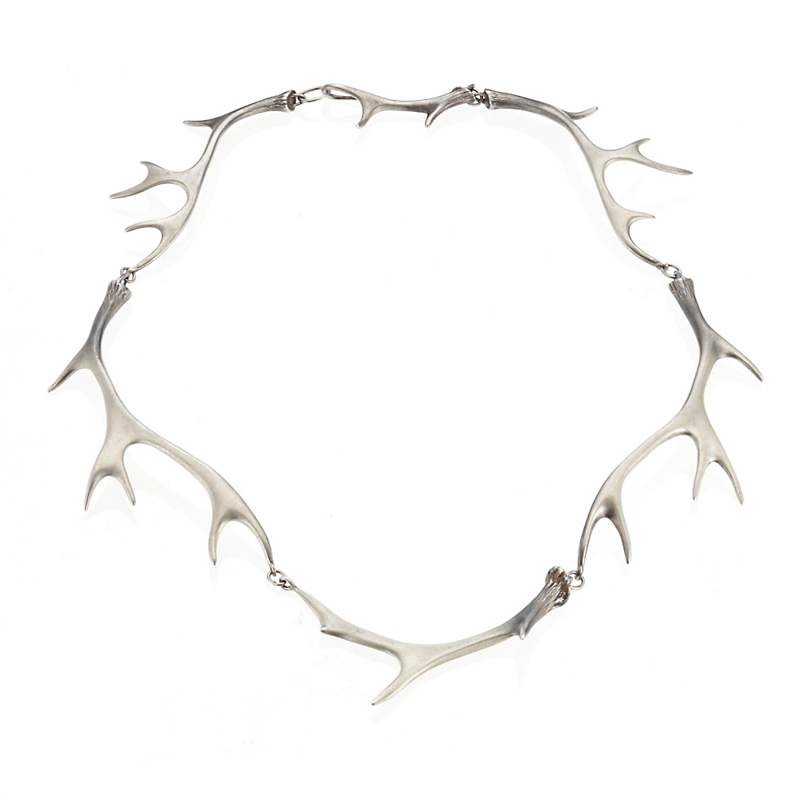 Gabriella Kiss Silver Antler Link Necklace