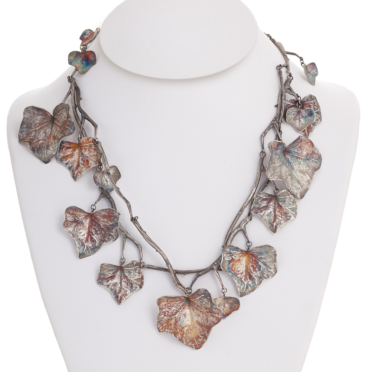 Gabriella Kiss Oxidized Silver Ivy Necklace