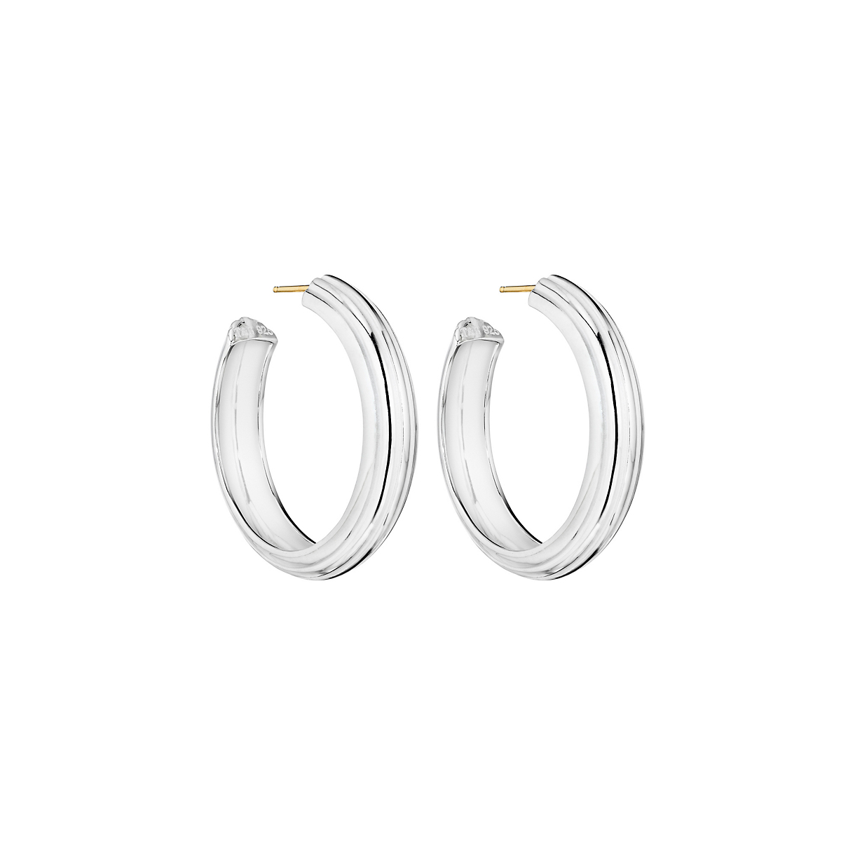 Sterling Silver Lines Earrings