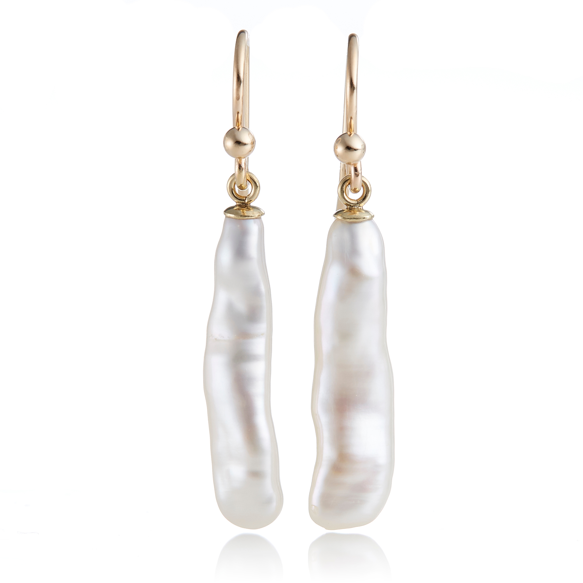 Gump's Stick Pearl Drop Earrings