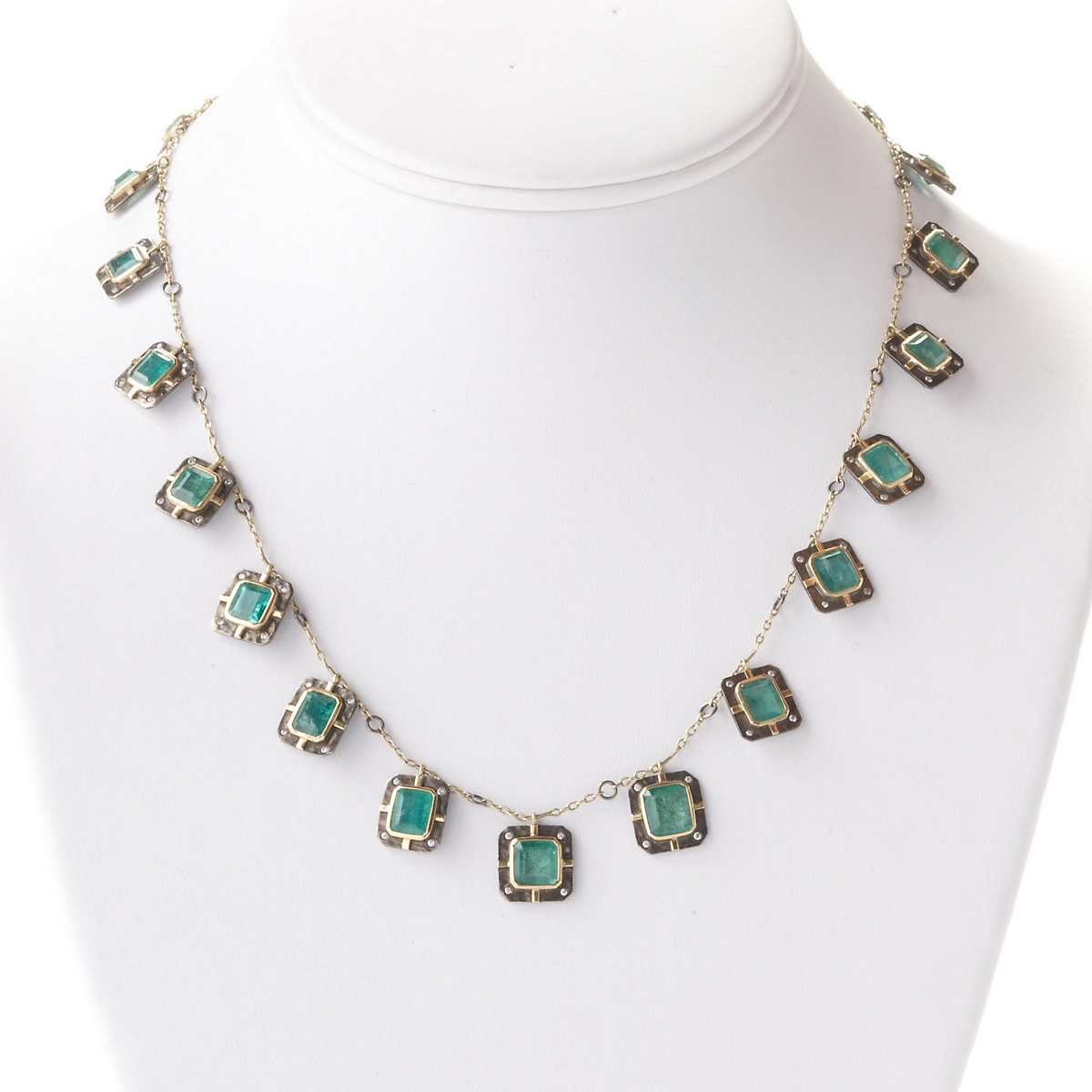 Kothari Emerald & Diamond Chain Necklace