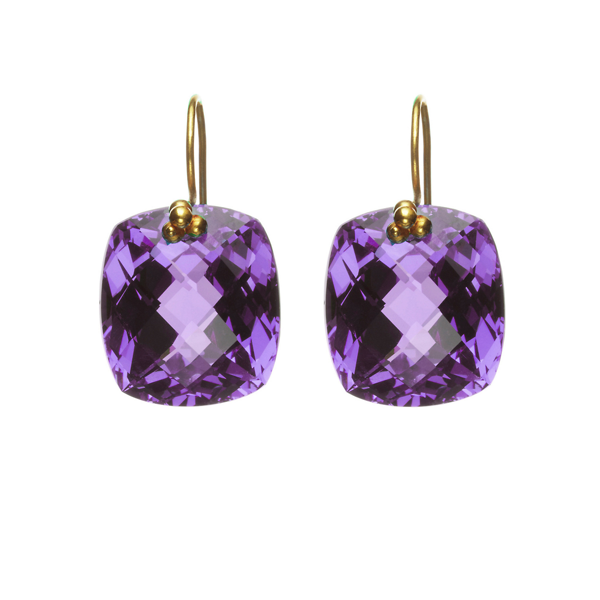 Nikki Baker Amethyst Cushion Earrings