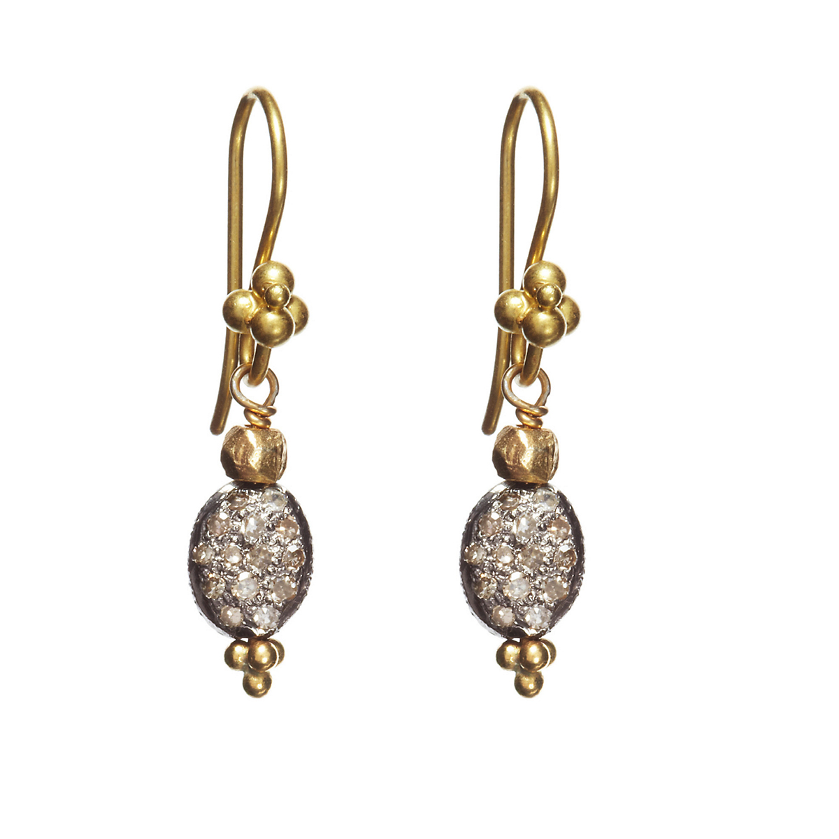 Nikki Baker Lusso Petite Bean Diamond Earrings