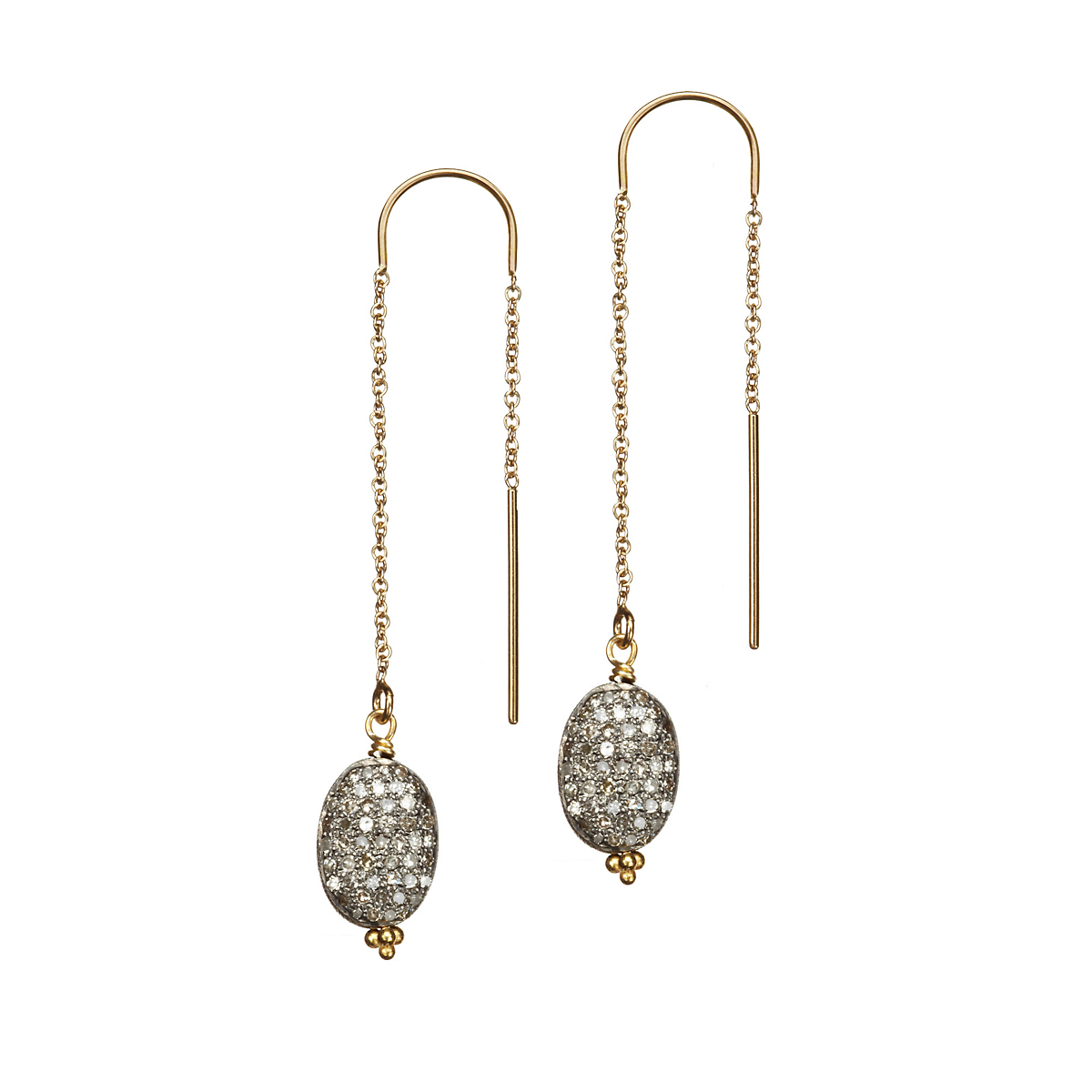 Nikki Baker Lusso Gray Diamond Earrings