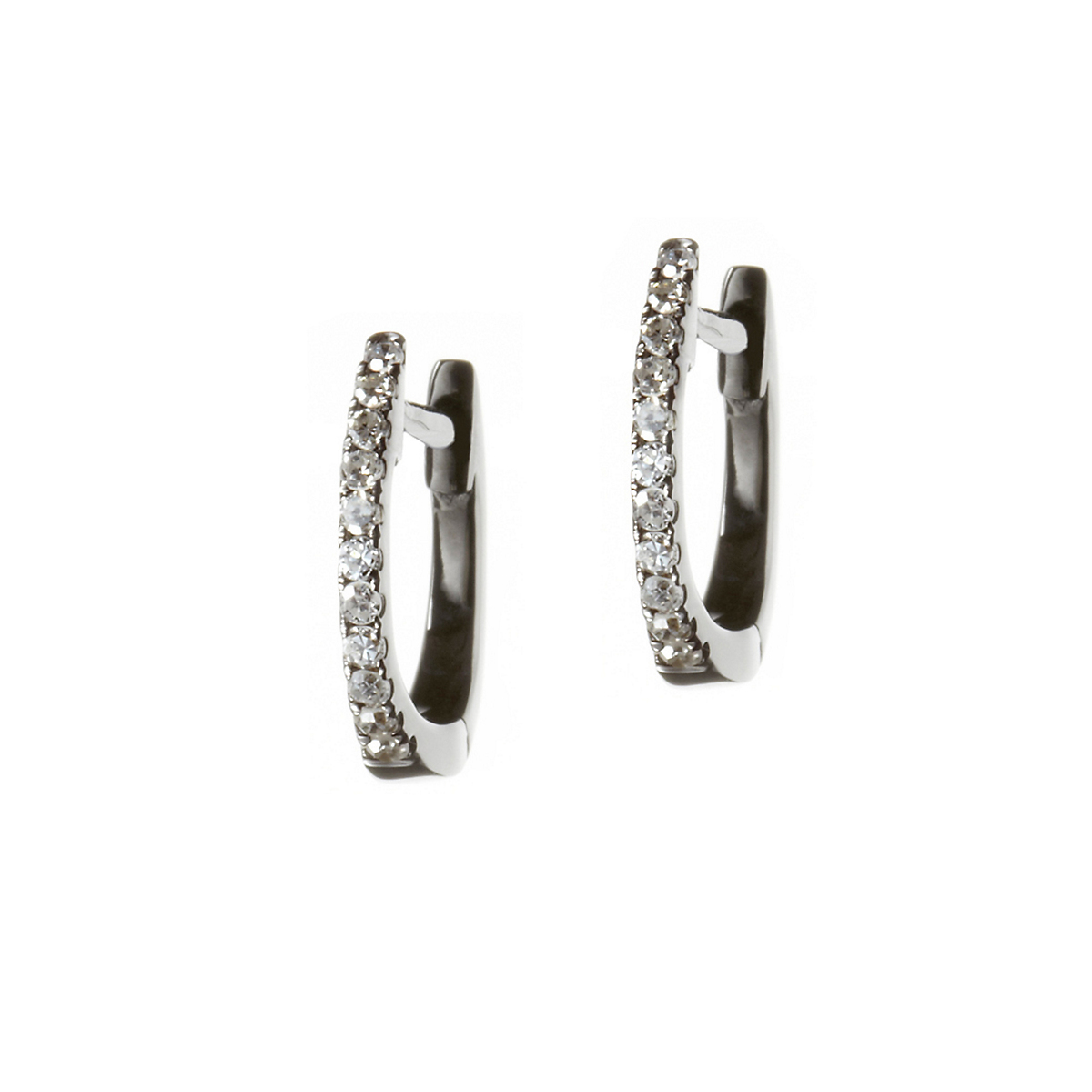 Nikki Baker Lusso White Gold & Diamond Mini Hoop Earrings