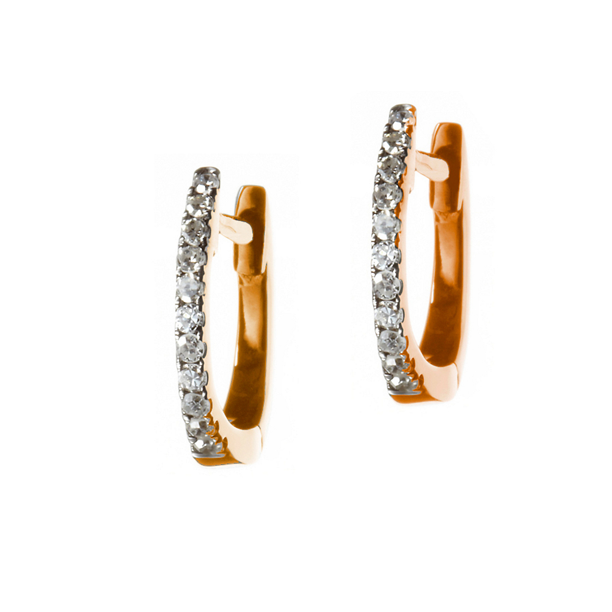 Nikki Baker Lusso Rose Gold & Diamond Mini Hoop Earrings