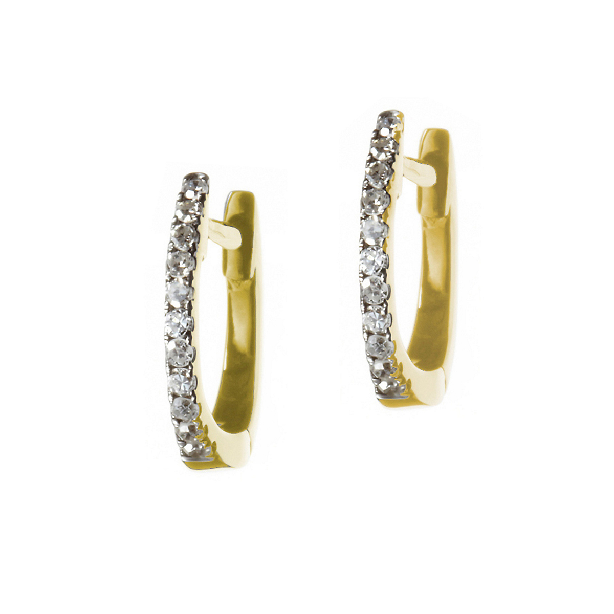 Nikki Baker Lusso Yellow Gold & Diamond Mini Hoop Earrings