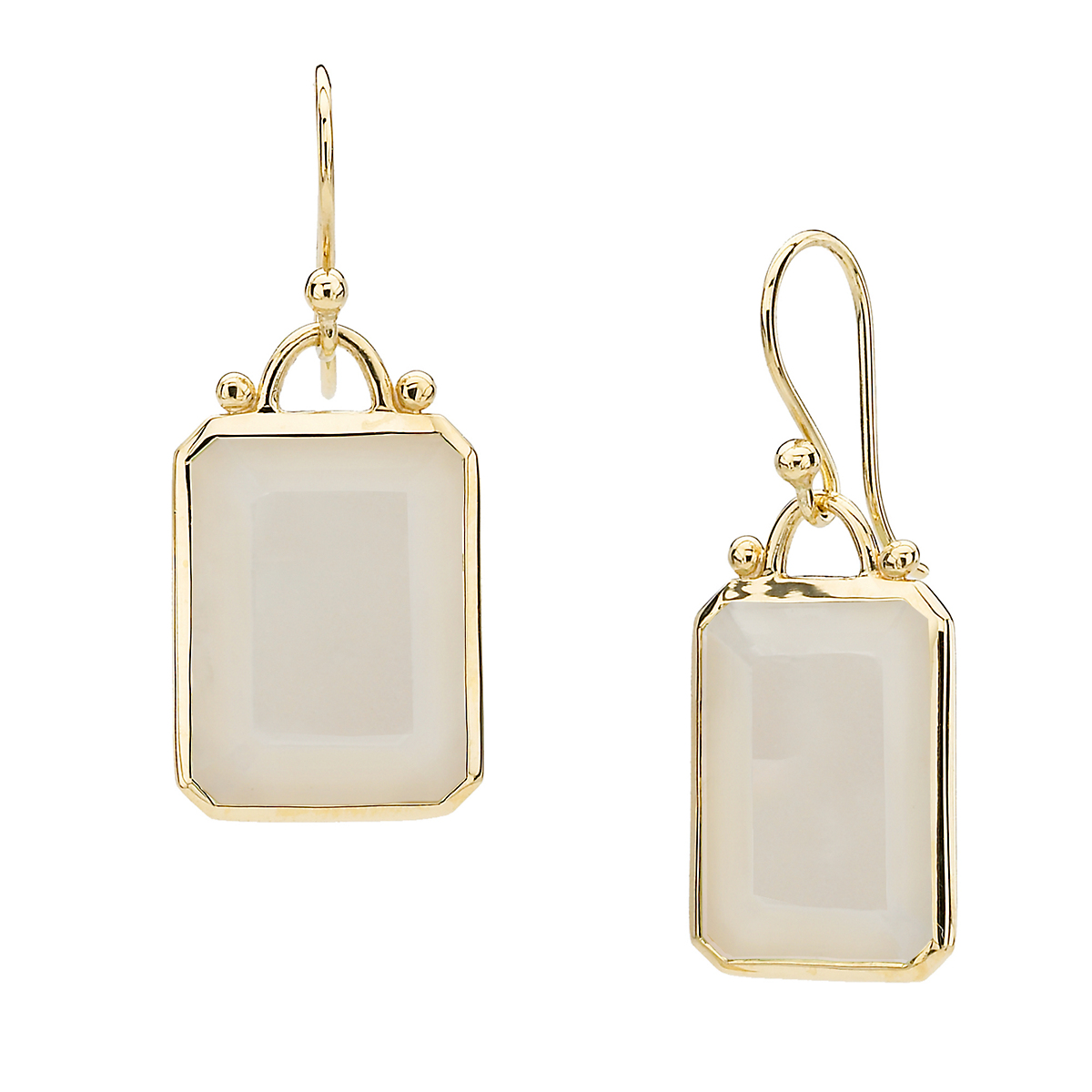 Elizabeth Showers Moonstone Deco Earrings