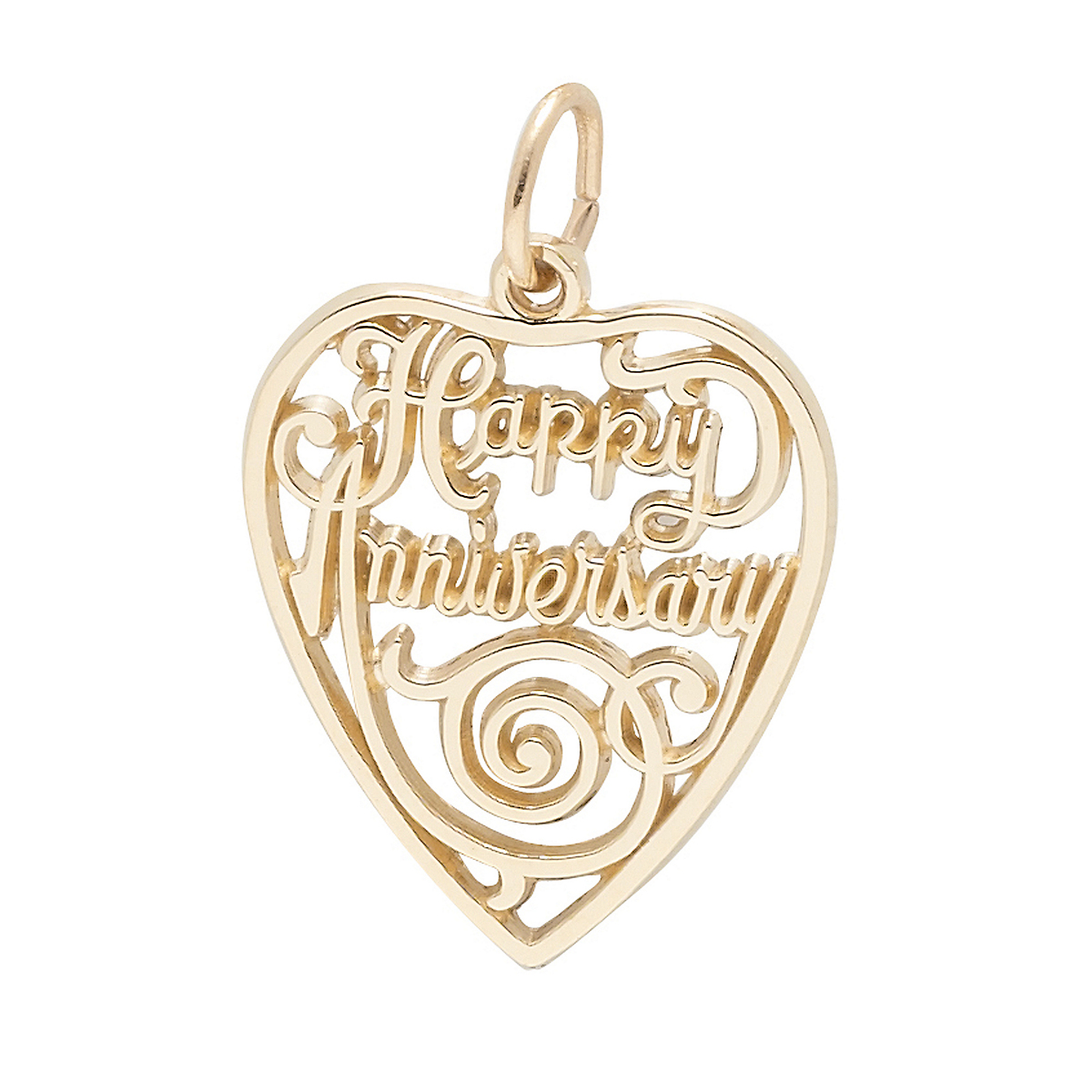 Gold Happy Anniversary Charm
