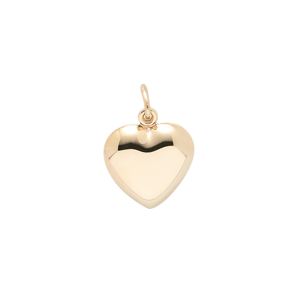 Gold Dimensional Heart Charm