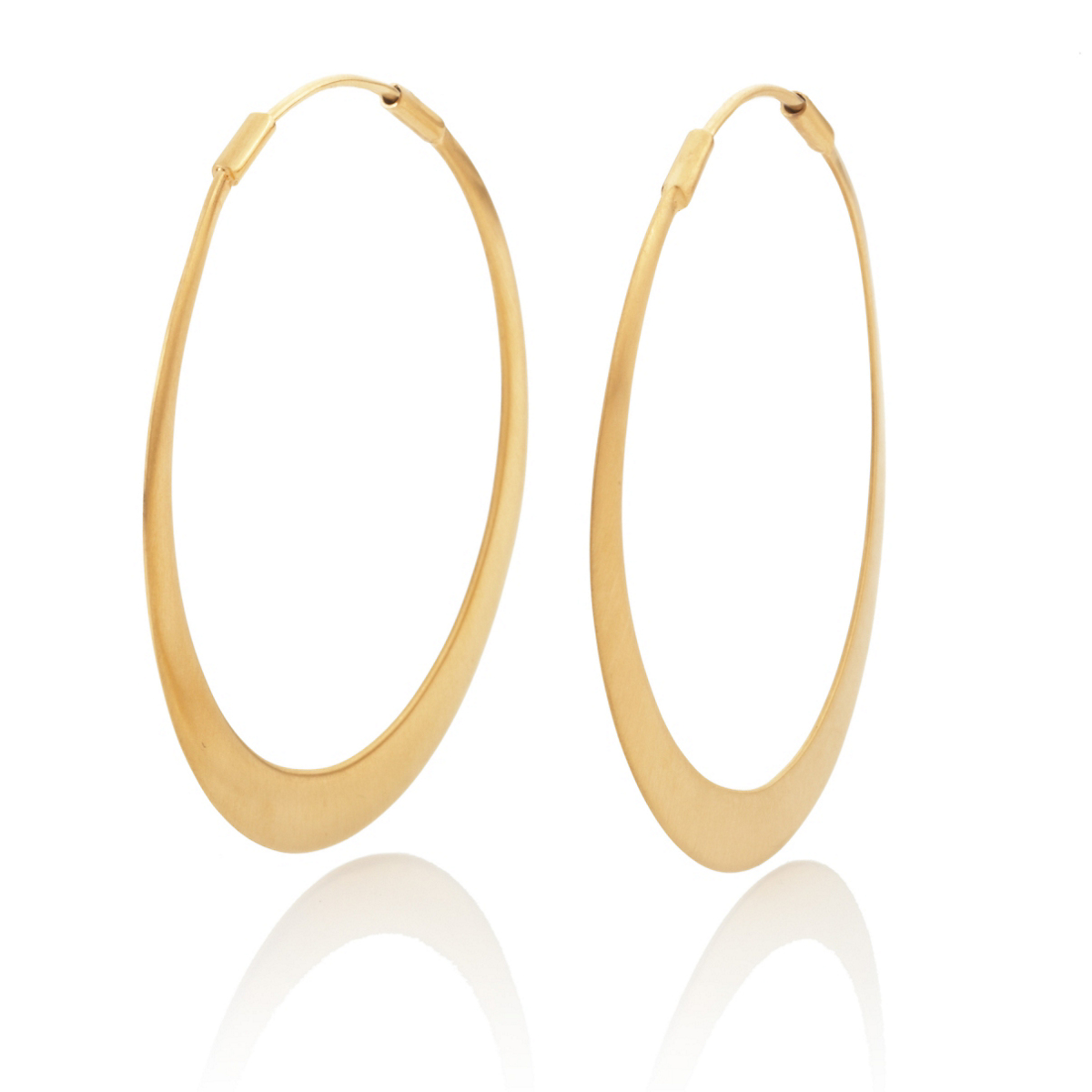 Anticoa Flat Gold Vermeil Hoop Earrings