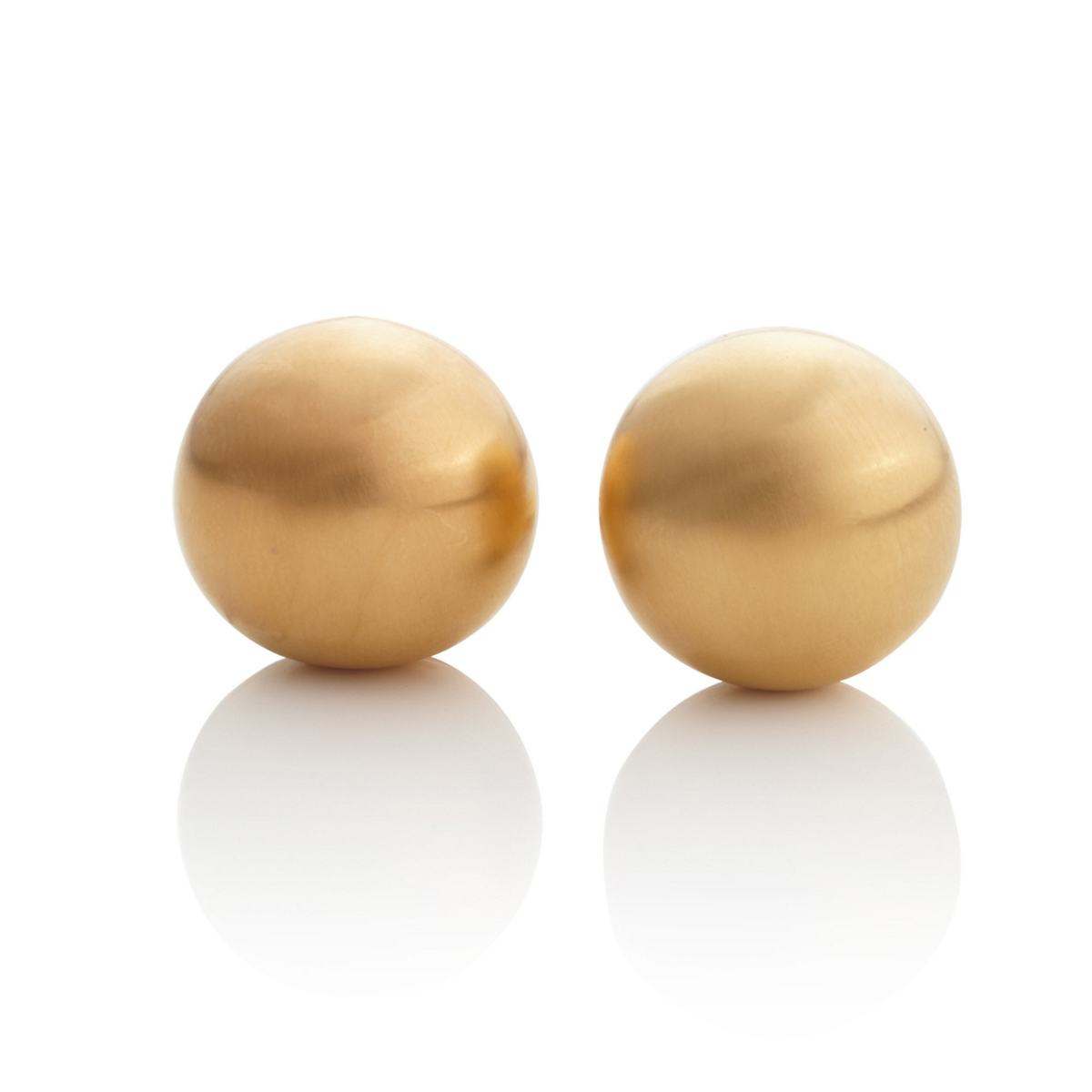 Anticoa Small Domed Gold Vermeil Earrings
