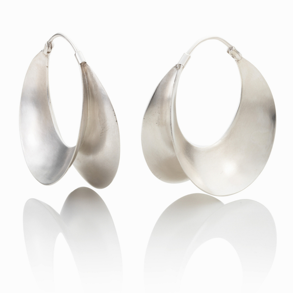 Anticoa Flared Ruffle Hoop Earrings