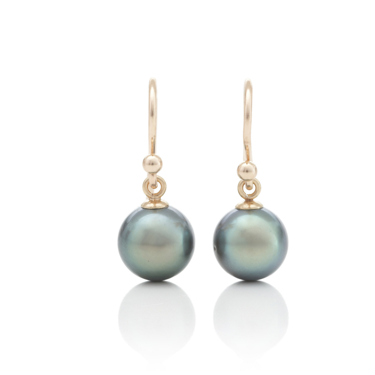 Gump's Green Tahitian South Sea Pearl Drop Earrings