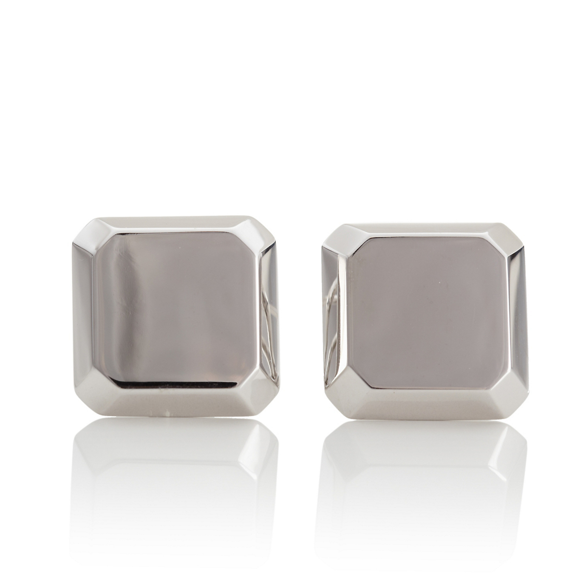 Gump's Beveled Square Silver Earrings