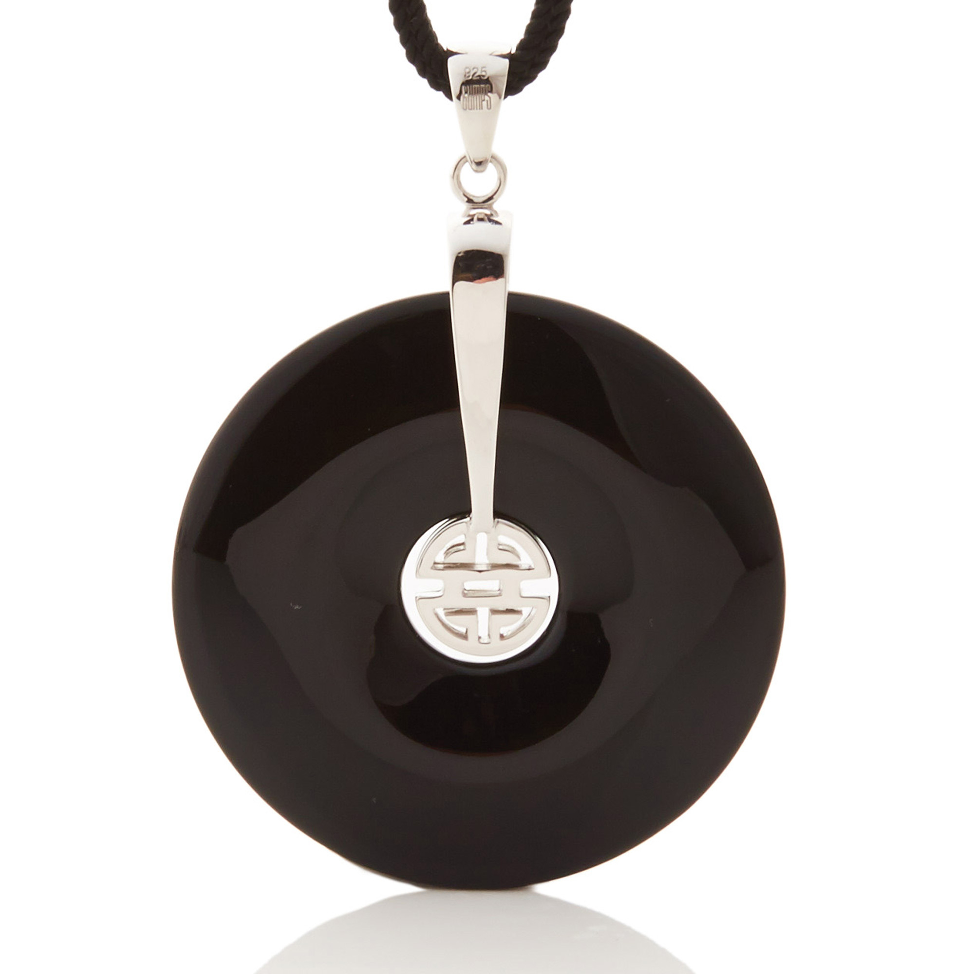 Gump's Shou Onyx Pendant Necklace