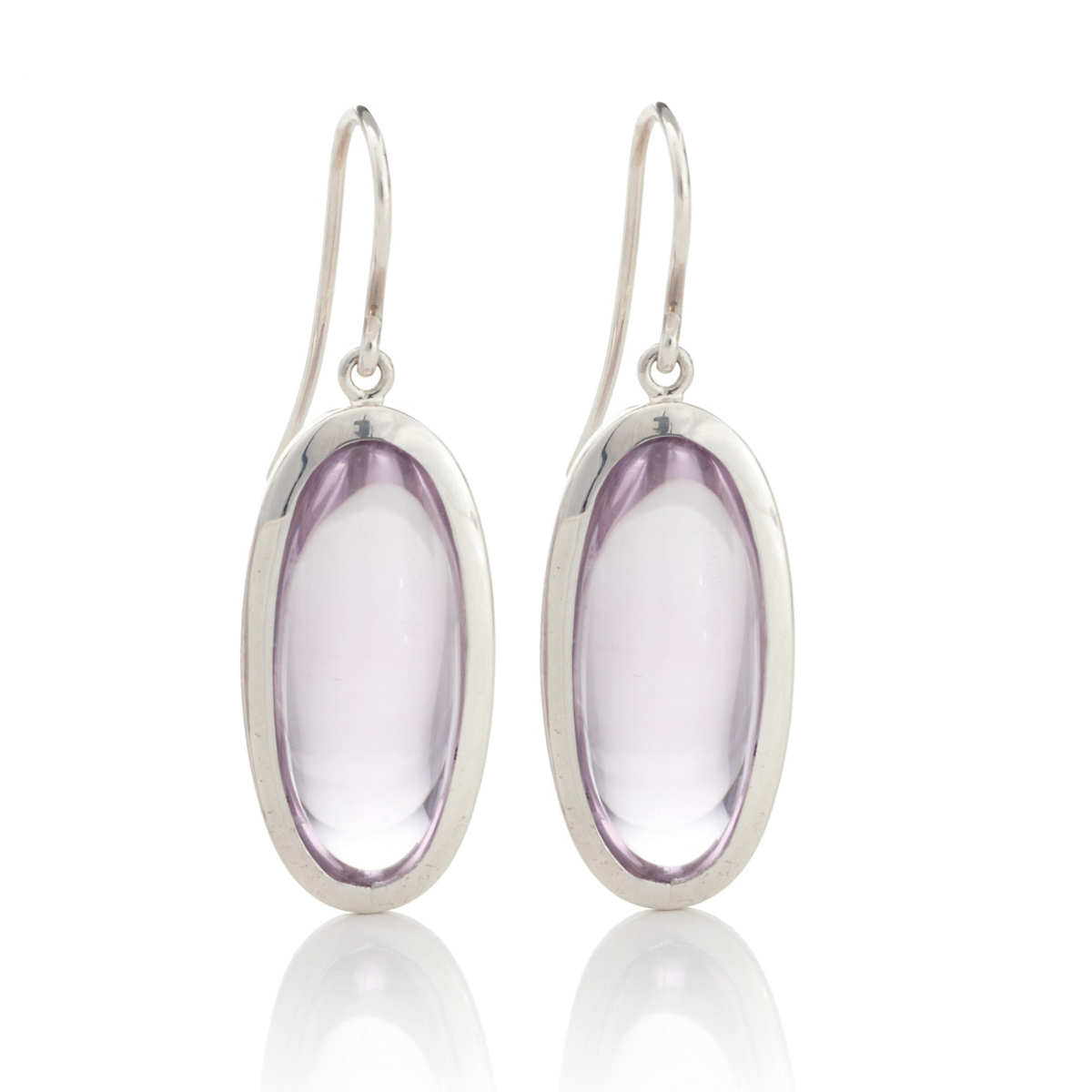 Gump's Light Amethyst Oval Drop Earrings