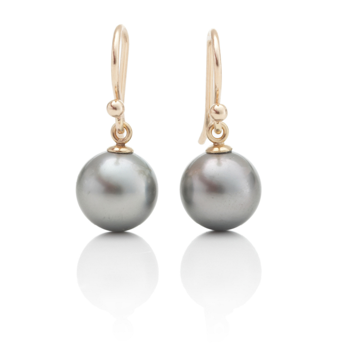 Gump's Grey Tahitian South Sea Pearl Drop Earrings