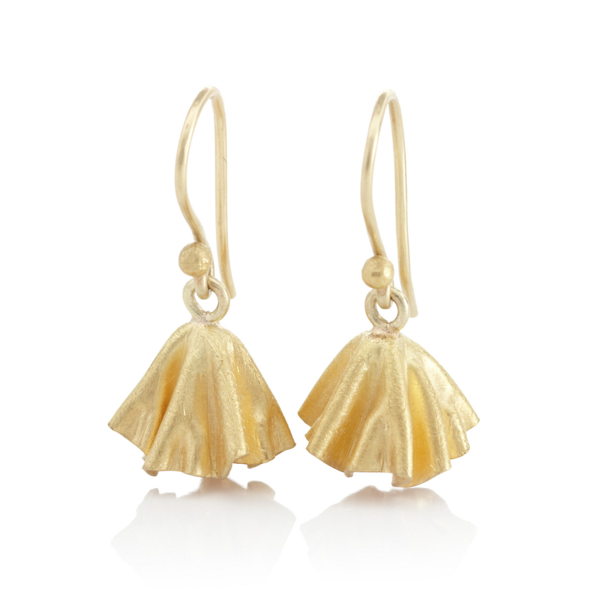 Petra Class Gold  Lotus Leaf Drop Earrings