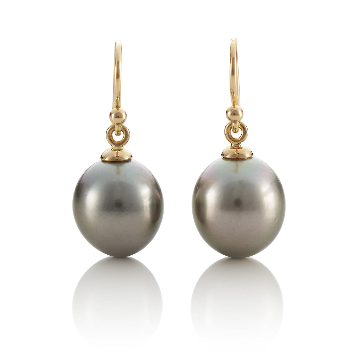 Tahitian Cultured Pearl Drop Earrings