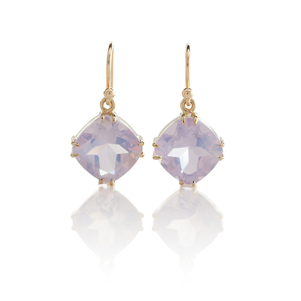 Gump's Lilac Quartz Drop Earrings