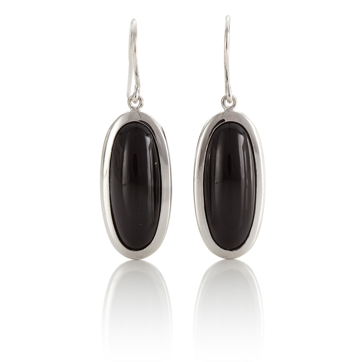 Gump's Black Onyx Oval Drop Earrings