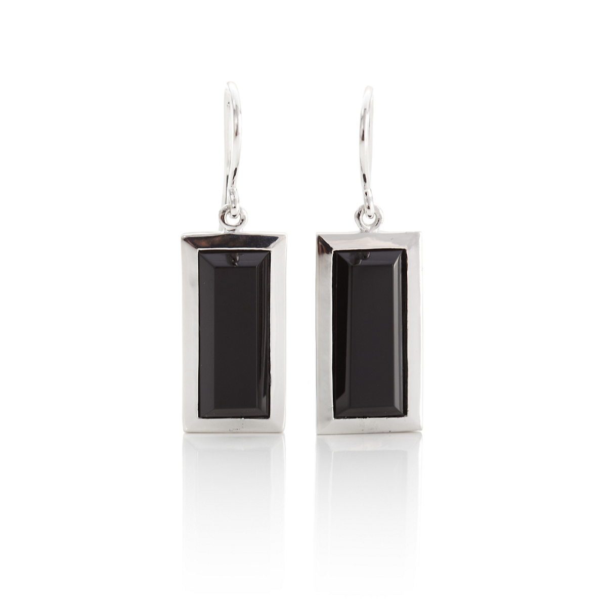 Gump's Faceted Black Onyx Drop Earrings