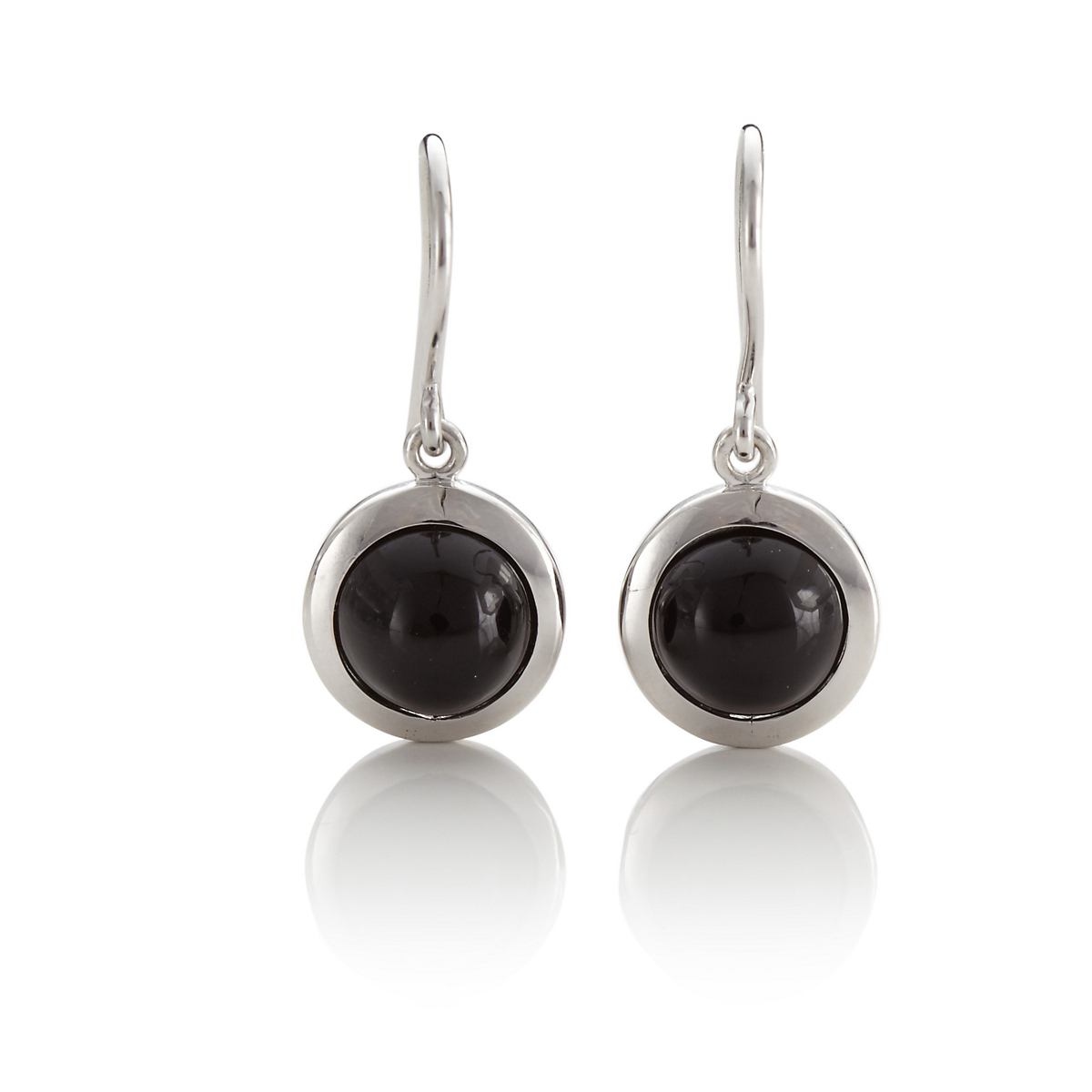 Gump's Black Onyx Round Drop Earrings