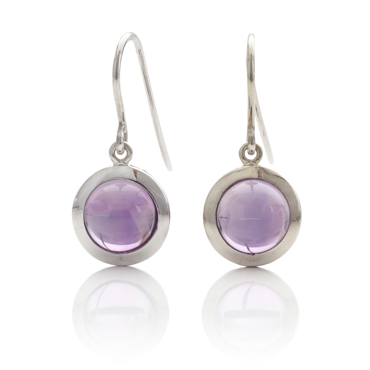 Gump's Amethyst Round Drop Earrings