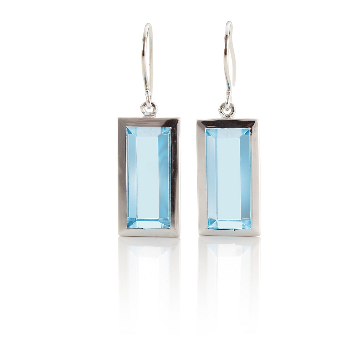 Gump's Faceted Blue Topaz Drop Earrings
