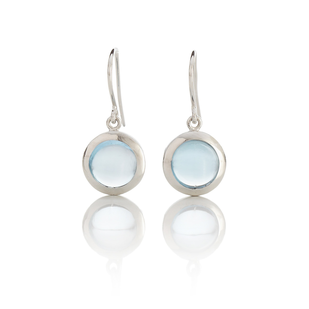 Gump's Blue Topaz Cabochon Drop Earrings