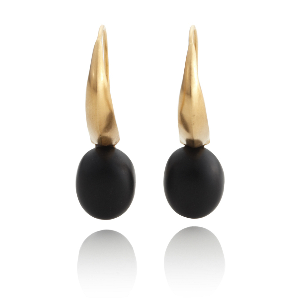 Anticoa Matte Onyx & Gold Vermeil Earrings