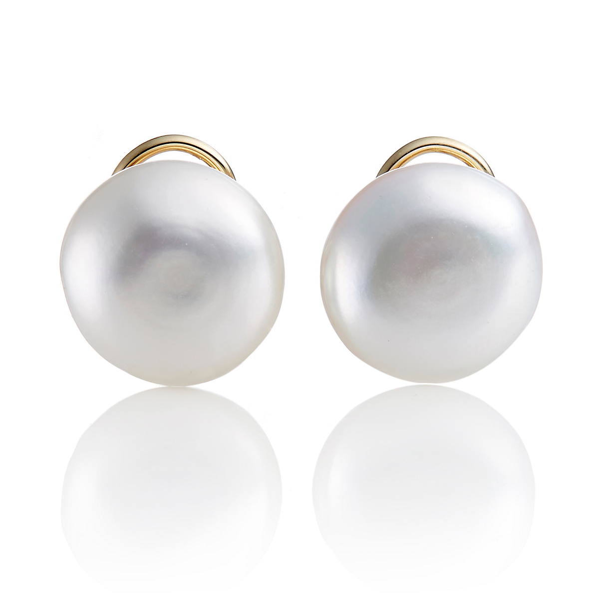 Baroque Freshwater Coin Pearl Earrings