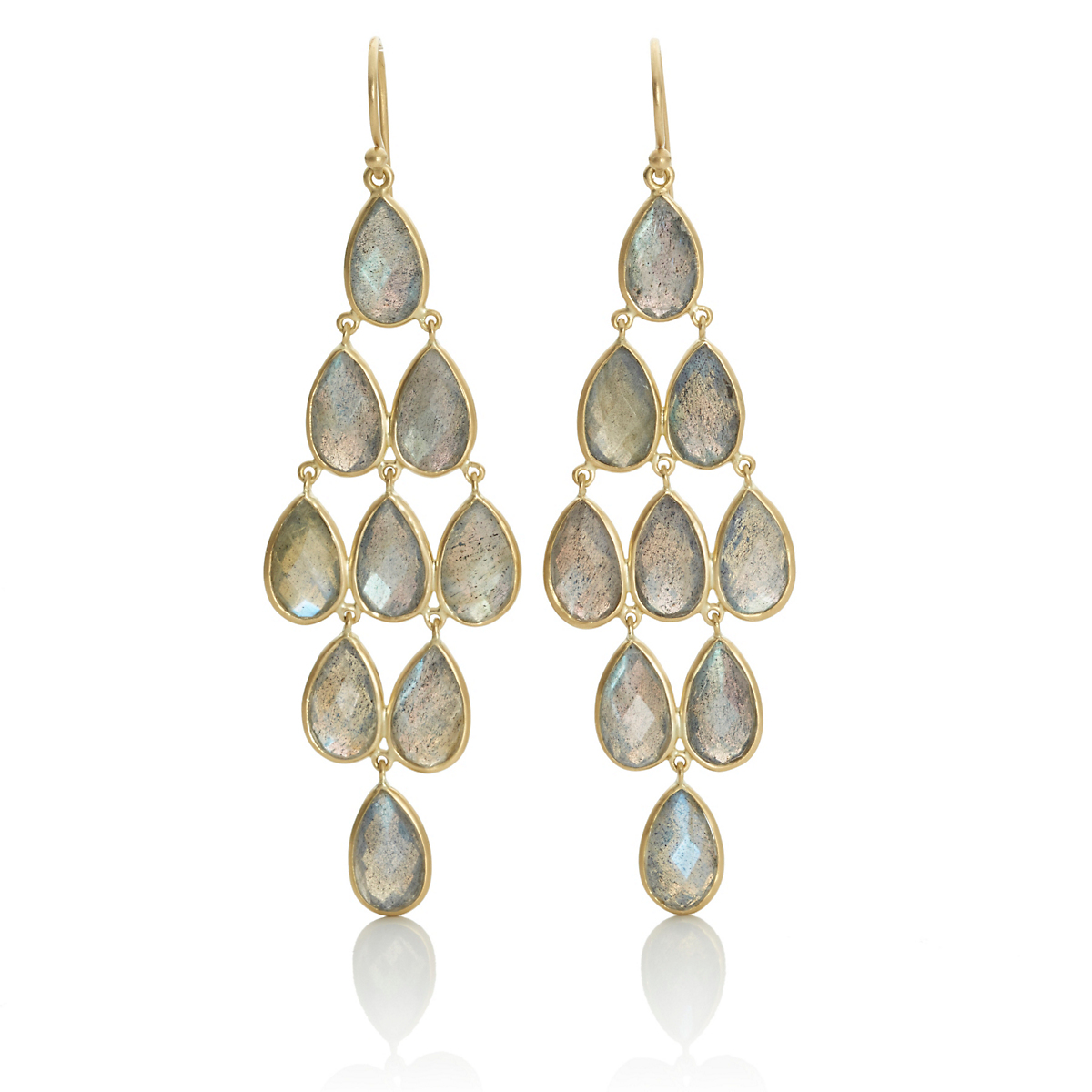 Kothari Labradorite Chandelier Earrings