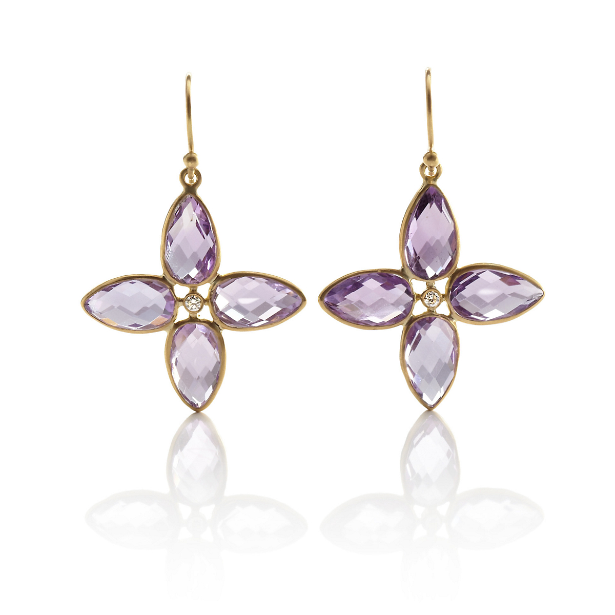 Kothari Amethyst Compass Earrings