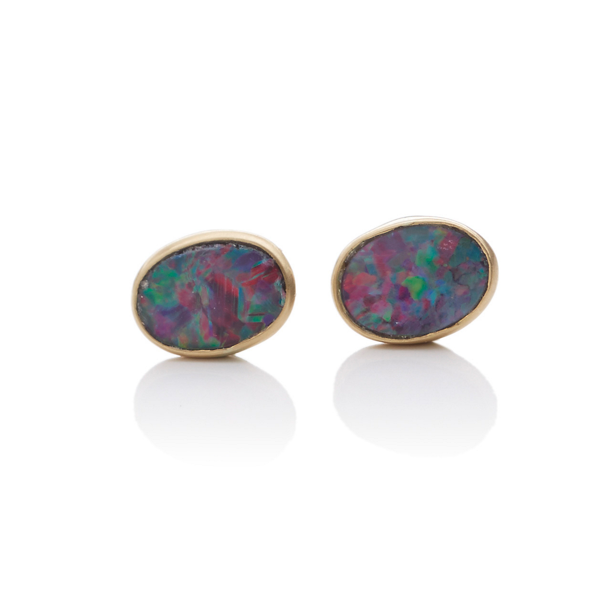 Kothari Oval Boulder Opal Earrings