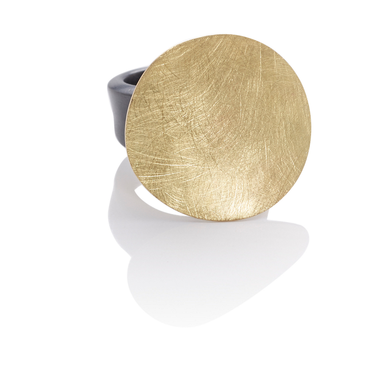 Majoral Textured Gold & Silver Xips Ring