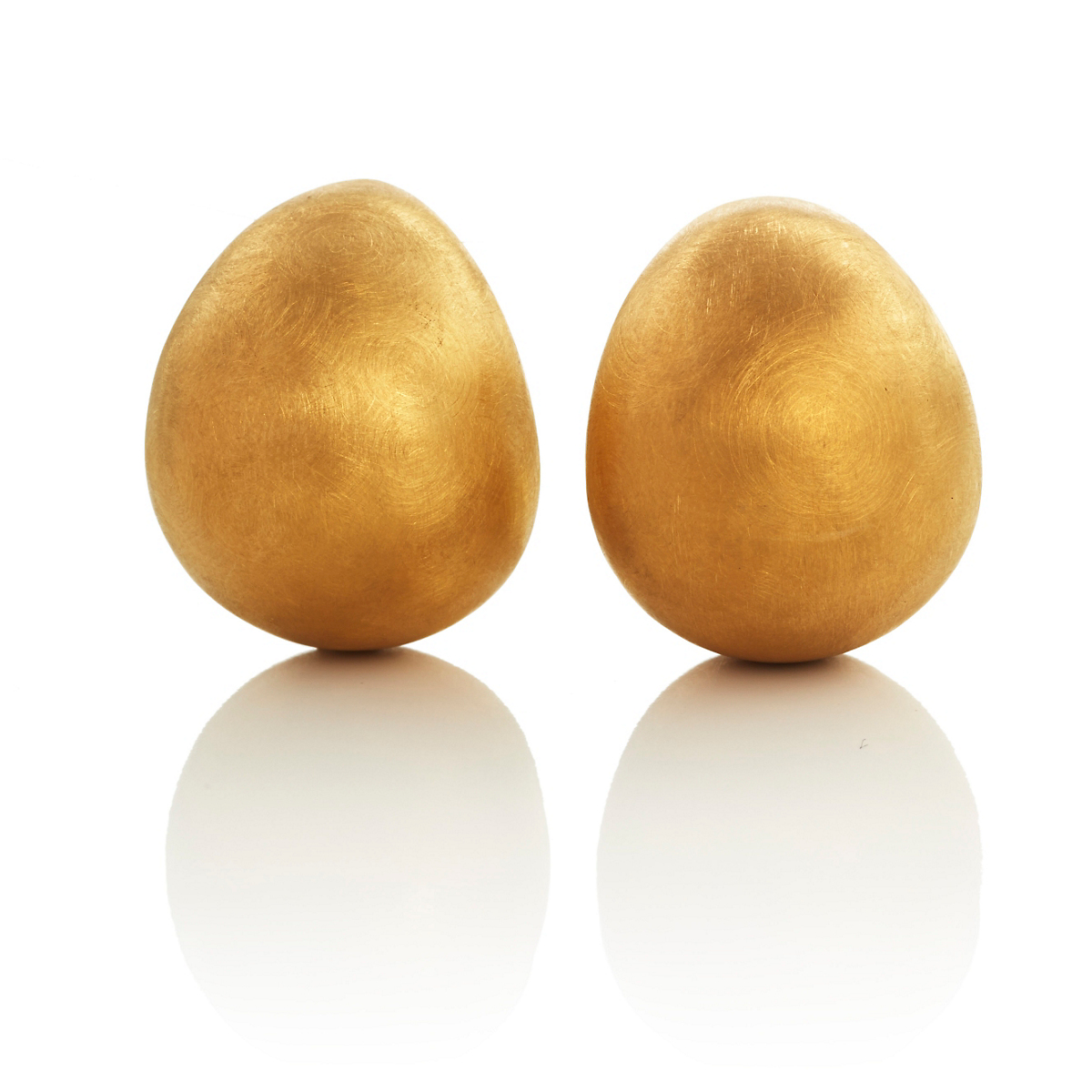 Brushed Vermeil Tapered Cuff Earrings
