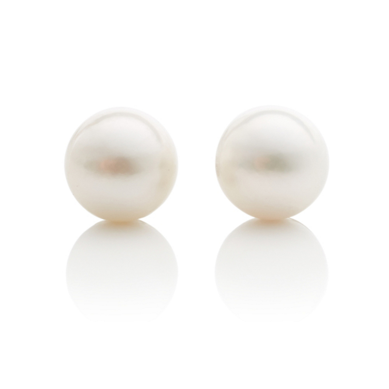 Gump's White Akoya Cultured Pearl Earrings