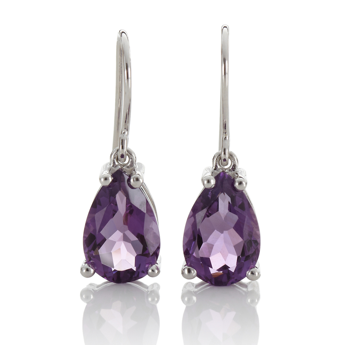 Gump's Faceted Amethyst Teardrop Earrings