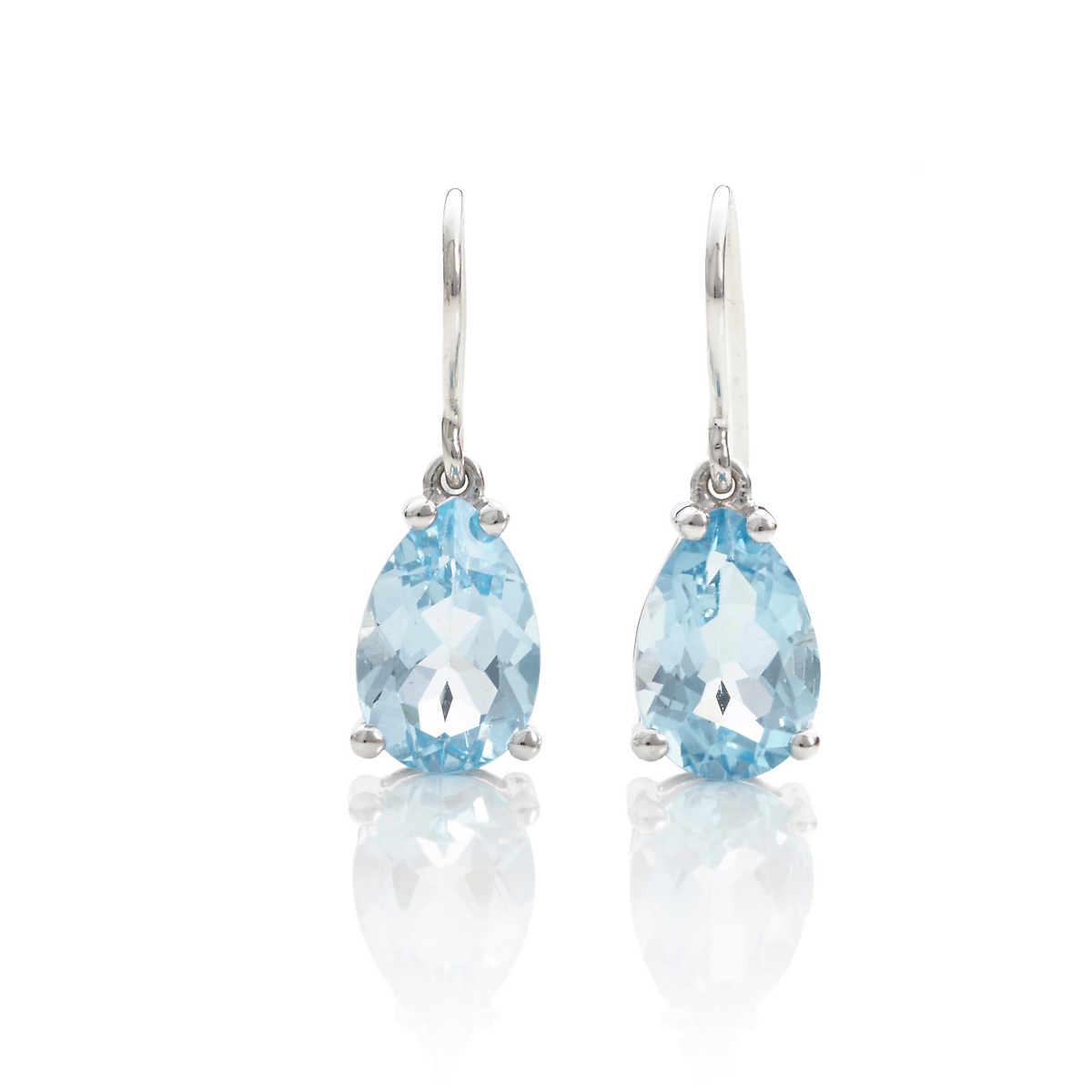 Gump's Faceted Blue Topaz Teardrop Earrings