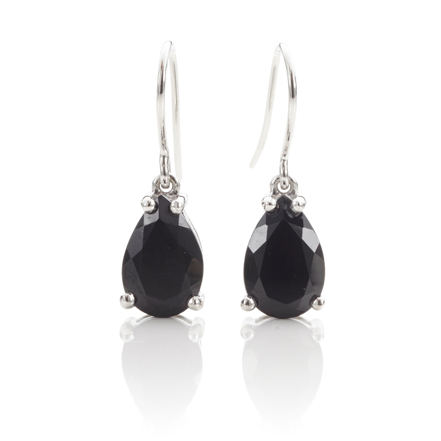 Gump's Faceted Onyx Gemdrop Earrings