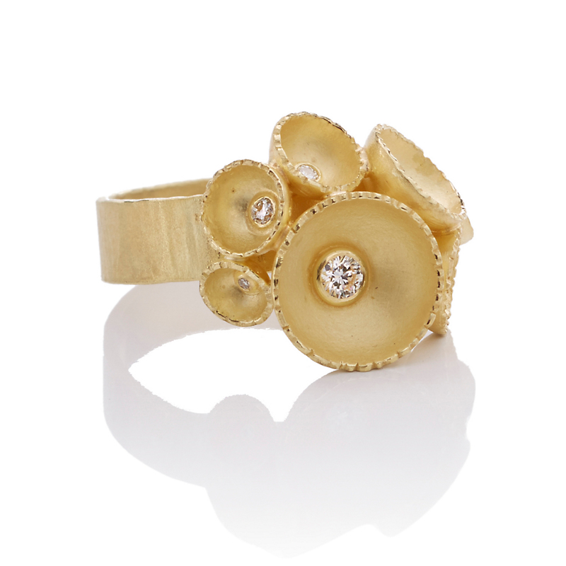 Barbara Heinrich Gold Cup & Diamond Ring